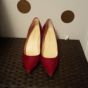 Wine Colored Patent Leather Pumps